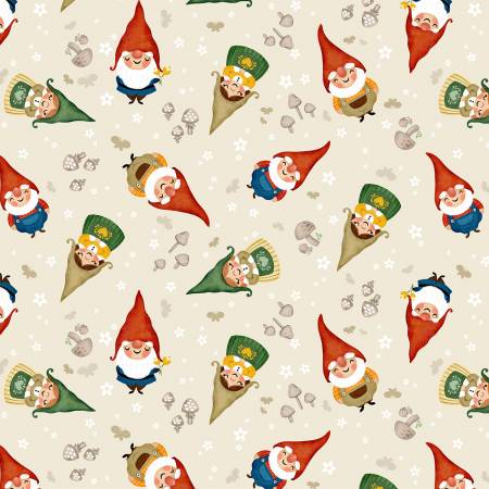 Gnome is Where the Heart Is - Ecru Sweet Gnomes