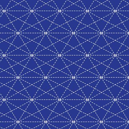 3/4 yd Remnant Mend by Jacquie Gering Cobalt Stars