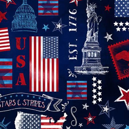 Digital Cuddle Print Americana