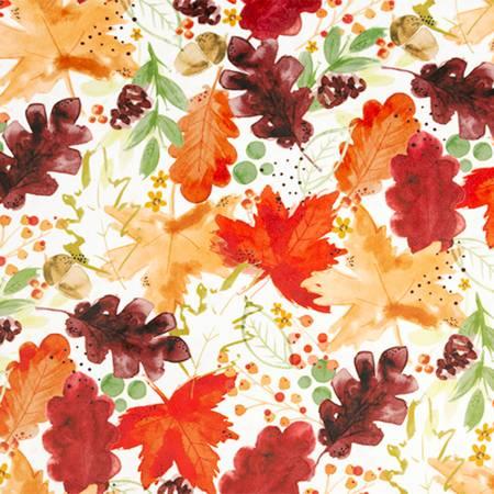 Harvest Autumn Leaves Digital - Cuddle 60 wide