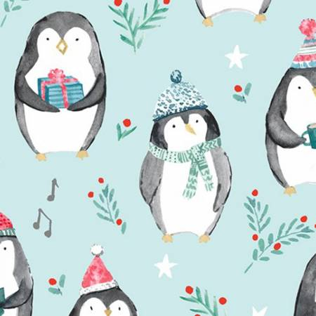 Saltwater Cozy Penguins Digital Cuddle