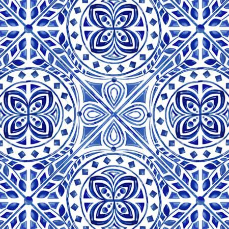 Blue/White Mosaic Digital Cuddle