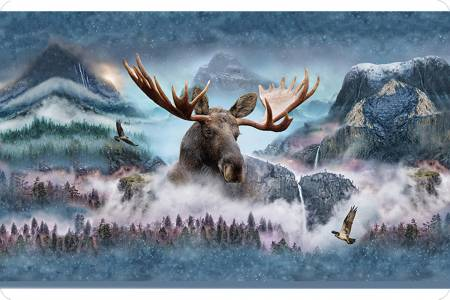 Digital Cuddle Moose Panel