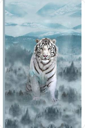 Shannon - Hoffman Siberian Tiger Digital Cuddle Panel/Ice Blue - DCPHSIBERTIG