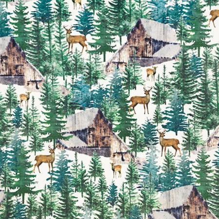 Digital Cuddle Print  - Pine Forest