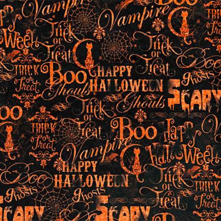 Black Spooky Script Digital Cuddle