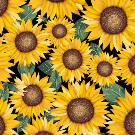 Shannon Cuddle Sunflower Digital Print 58/60