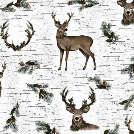 Snow Winter Deer Digital Cuddle