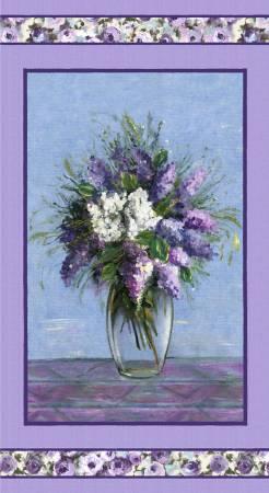 Purple Blooming Vase Panel