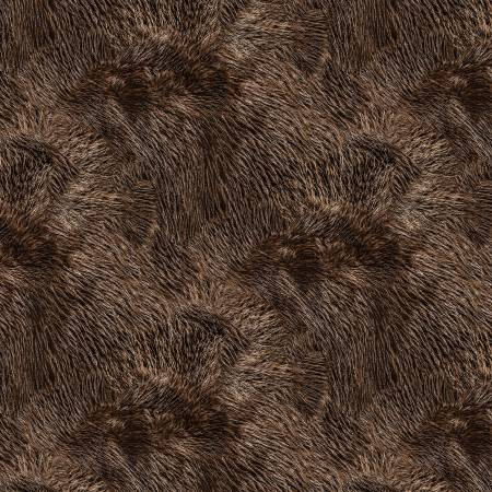 Brown Furry Texture Digitally Printed