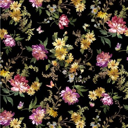 Victoria's Garden - Magic Garden Digitally Print - Black