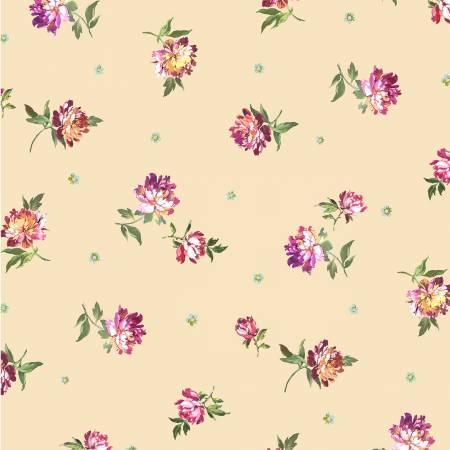 Victoria's Garden - Fragrance of the Night Digitally Print - Cream