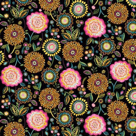 Black Floral Wonderland