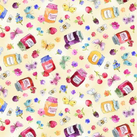 MM- In The Garden Jam Pots Cream
