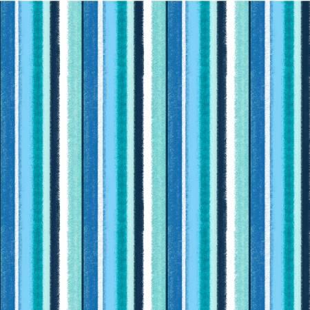 Blue Waterfront Stripe