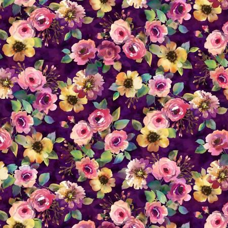 MM Purple Delicate Floral
