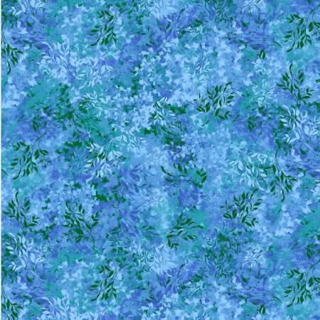 Blue Muse Azure Floral Imprint