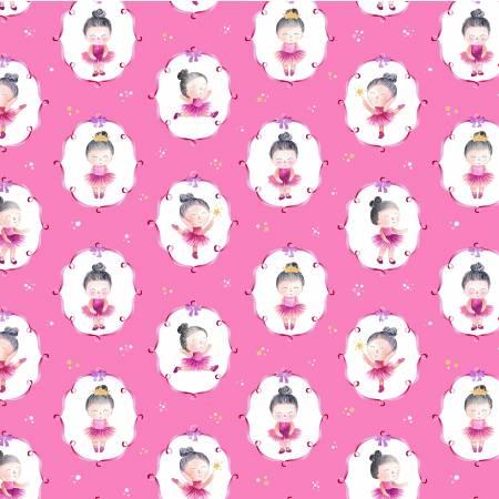 Michael Miller A Star Is Born Pink Ballet Little Dancer DCX9829-PINK