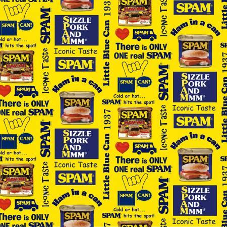 Yellow Spam Print
