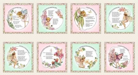 Flower Fairy Patchwork 24in repeat