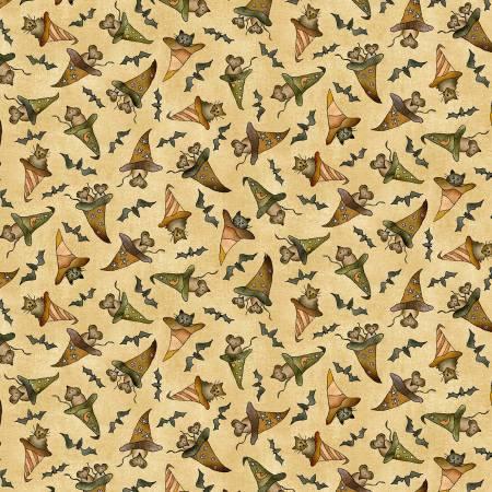 Beige Bats, Cats, Rats & Hats Halloween ddc9686-beige