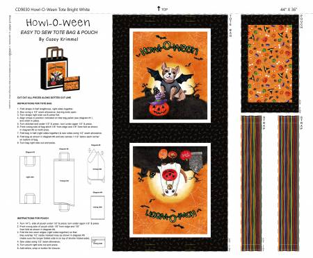 White Howl-o-ween Tote on Cotton Duck
