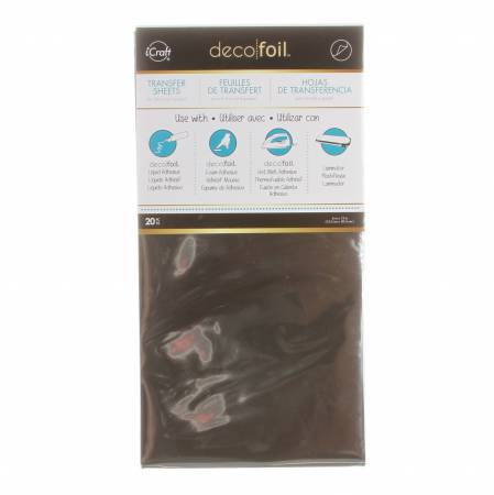 iCraft Deco Foil Transfer Sheets 20pk Silver