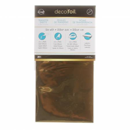 DECO FOIL TRANSFER SHEETS 6 X 12 20PK
