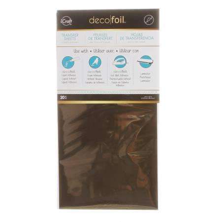 iCraft Deco Foil Transfer Sheets 20pk Rose