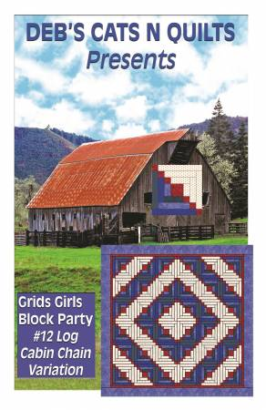 Log Cabin Chain Variation Grids Girls Block Party 12