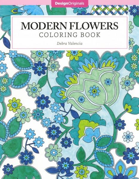 Modern Flowers Coloring Book - Softcover