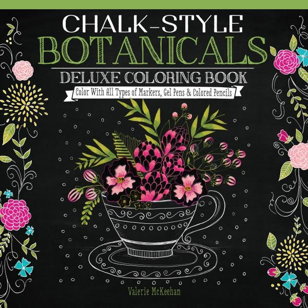 Chalk-Style Botanicals Coloring Book