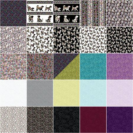 Dog On It 10in Squares Bundle - by Ann Lauer of Grizzly Gulch Gallery for Benartex