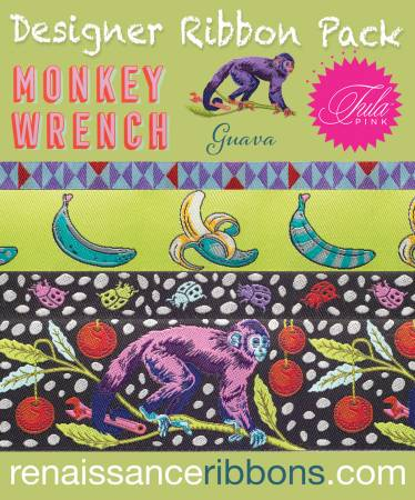 Monkey Wrench/Guava (Ribbon Pack) (Tula Pink)