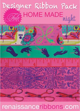 Tula Pink Home Made Night Designer Ribbon Pack
