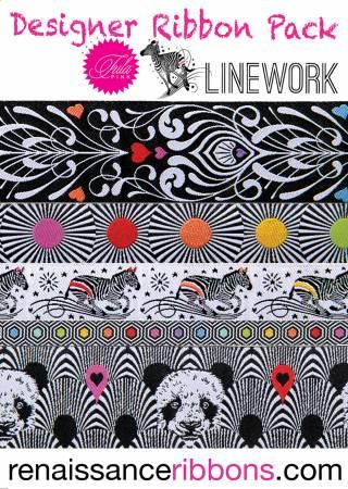 Tula Pink Linework Designer Ribbon Pack DP-92TPLD