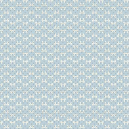 Dots and Posies Blue Bows DP20408