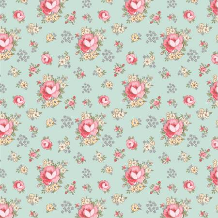 Dots and Posies Teal Primroses DP20411