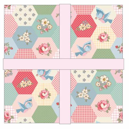 Dots & Posies 5 inch squares  (44 pieces) - Poppie Cotton