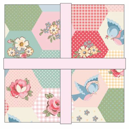 Dots & Posies 10 inch squares (44 pieces)  - Poppie Cotton