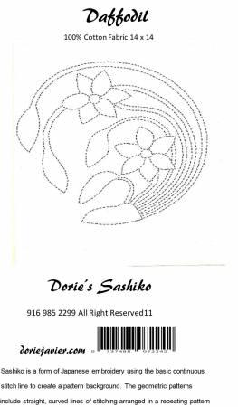Dorie's Sashiko - Daffodil