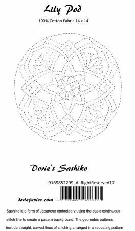 Dorie's Sashiko - Lily Pad