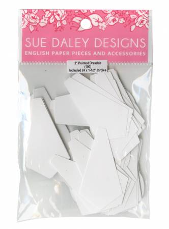 2in Pointed Dresden Papers (50 pieces per bag)