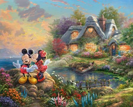 Disney Dreams Mickey & Minnie Sweetheart Cove 36in Panel