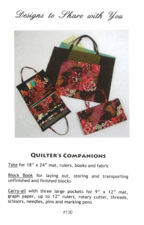 Quilter's Companions Pattern