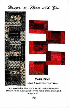 Take Five...Fat Quarters, That Is... Pattern