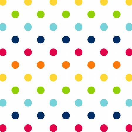 White/Rainbow Rainbow Dots