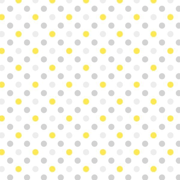 Yellow/Grey Dot Party Flannel