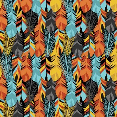 Orange Packed Feathers