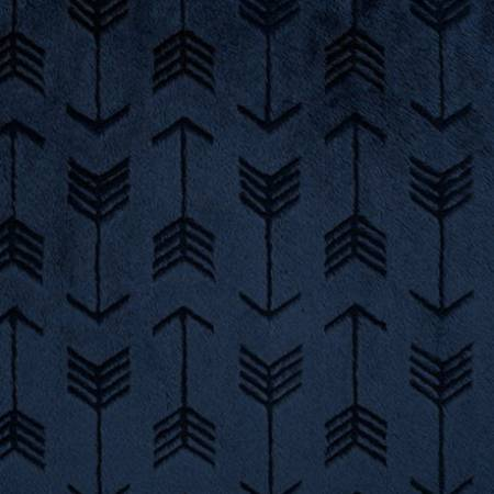 Embossed Arrow Cuddle Navy